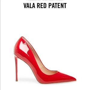 Steve Madden Patent Red Heel